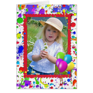 Paint Splatter Frame Card