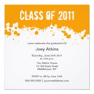 Paint Splatter Graduation Invitation