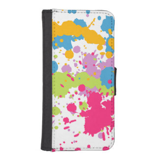 Paint Splatter I Phone 5 Wallet Case