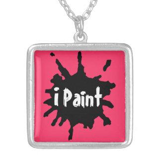 Paint Splatter Personalized Necklace