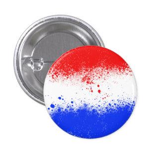 Paint Splatter Netherlands Flag Button