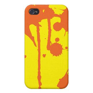 Paint Splatter Orange Case For The iPhone 4