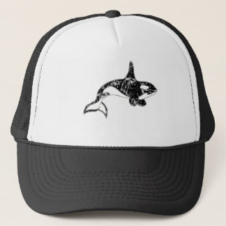 Paint Splatter Orca Art Cap