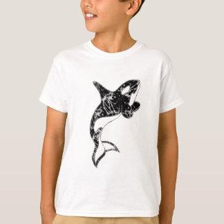 Paint Splatter Orca Art T-Shirt
