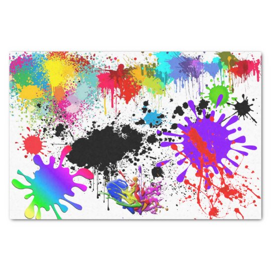 Paint Splatter Pattern Tissue Paper