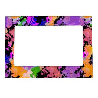 Paint Splatter Print Magnetic Fridge Photo Frame