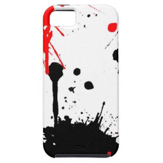 Paint Splatter Red Black iPhone 5 Case