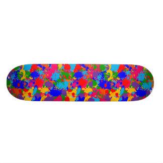 Paint Splatter Skateboard