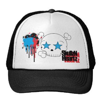paint splatter skullzNheartz trucker hat