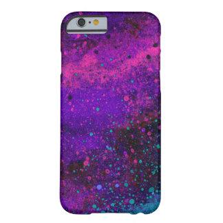 Paint Splatter Texture in Pink Purple and Blue iPhone 6 Case