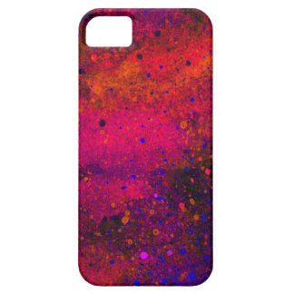 Paint Splatter Texture in Red Pink and Blue Barely There iPhone 5 Case