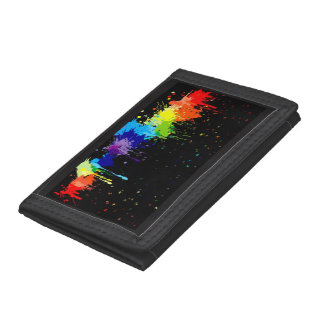 Paint Splatter Tri-fold Wallet