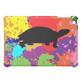 Paint Splatter Turtle iPad Mini Cover