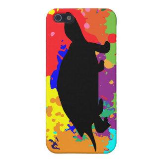 Paint Splatter Turtle iPhone 5 Case