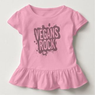 Paint Splatter VEGANS ROCK (gry) Toddler T-Shirt