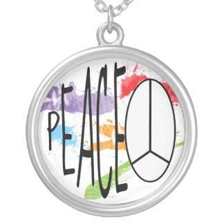 Paint Splattered Peace Necklaces