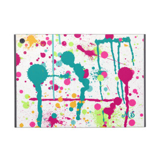 Paint Splatters Custom Initials Cover For iPad Mini