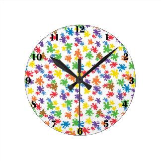 Paint Splotches Clock
