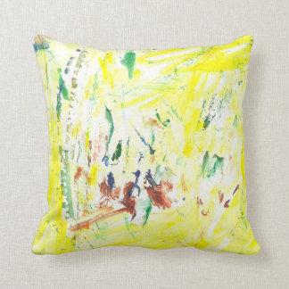 Paint Spots Throw Pillow