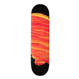 Paint Streaked with Textured Background Skate Board