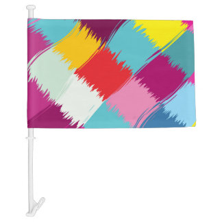 Paint strokes abstract design car flag