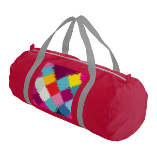 Paint strokes abstract design gym bag