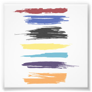 Paint Strokes Artistic Abstract Color (distressed) Photo