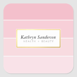 PAINT SWATCH modern stylish chic pink ombre Square Sticker