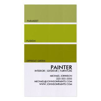Paint Swatch Pack Of Standard Business Cards