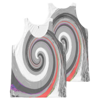 paint swirl All-Over print singlet