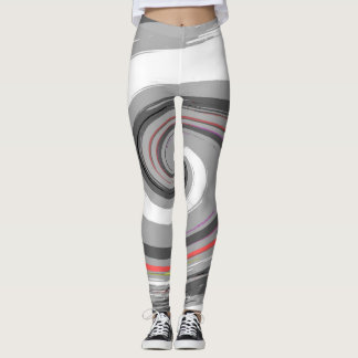 paint swirl leggings