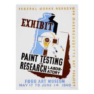 Paint Testing Exhibit 1940 WPA Poster