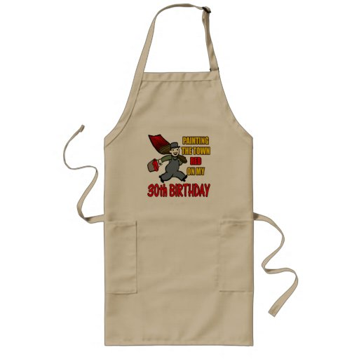 Paint The Town 30th Birthday Gifts Aprons