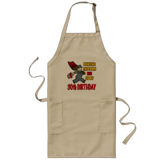 Paint The Town 30th Birthday Gifts Long Apron