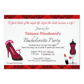 Paint the Town Bachelorette Party Card