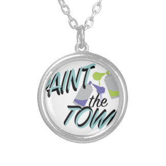 Paint The Town Silver Plated Necklace