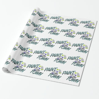 Paint The Town Wrapping Paper