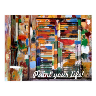 paint your life! postcard