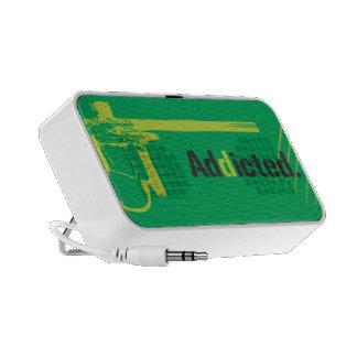 Paintball Addicted Green Logo  Doodle Travel Speaker