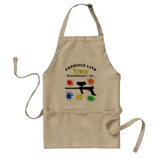 Paintball Apron with Gun and Paint Splatters