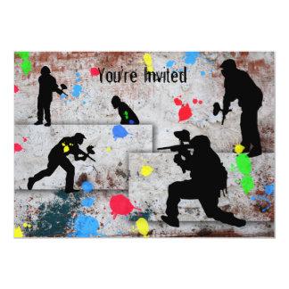 Paintball Battle Card