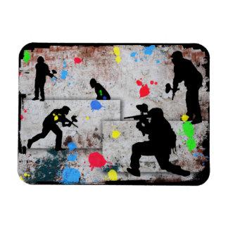 Paintball Battle Edges Magnets