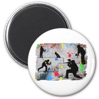 Paintball Battle Refrigerator Magnet