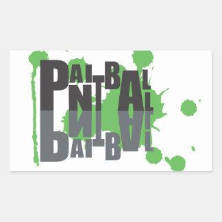 Paintball black on green logo sticker