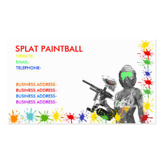 Paintball Business Card Template