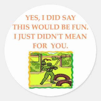 paintball classic round sticker