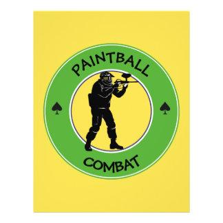Paintball Combat 21.5 Cm X 28 Cm Flyer