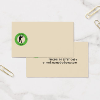 Paintball Combat Business Card