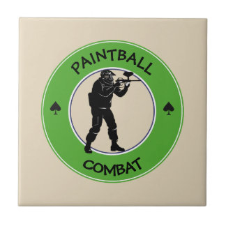 Paintball Combat Ceramic Tile