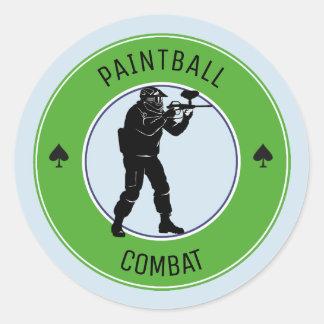 Paintball Combat Classic Round Sticker